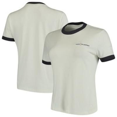 ナイキ レディース Tシャツ トップス Nike Women's THE PLAYERS Ringer Performance Tri-Blend T-Shirt White