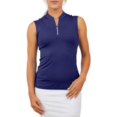 ソフィベラ Sofibella レディース ゴルフ ノースリーブ トップス Golf Sleeveless Zip Navy