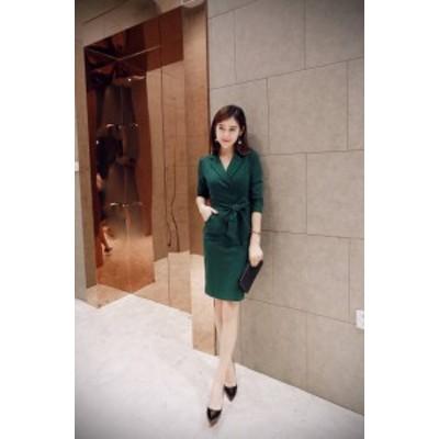 韓国 パーティードレス オルチャン ドレス 結婚式 お呼ばれ ドレス フォーマル ドレス パーティー ドレス 20代 30代 40代 七分袖