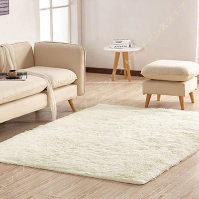 ラグ 洗える 1.5畳 ラグマット 120×200 サラふわ カーペット リビング 無地 絨毯 北欧 おしゃれ じゅうたん かわいい シャギーラグ 洗えるカーペット ホワイト