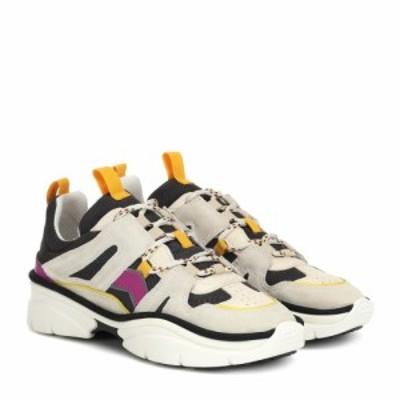 イザベル マラン Isabel Marant レディース スニーカー シューズ・靴 Kindsay suede-trimmed sneakers Anthracite