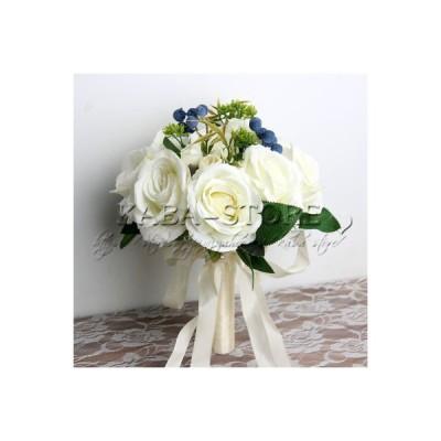 ウエディングブーケ ブートニア 結婚式 ローズ 造花 ウェディング用 アレンジメント 花嫁 披露宴 安い 手作り キット ブライダルブーケ ジュエリー