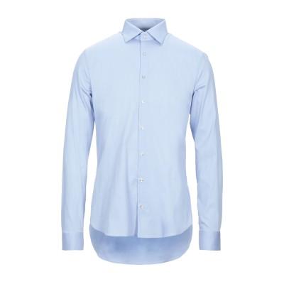 MICHAEL KORS MENS シャツ スカイブルー 43 コットン 70% / ナイロン 26% / ポリウレタン 4% シャツ