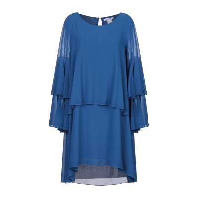 LANACAPRINA ミニワンピース&ドレス ブルー 44 ポリエステル 100% ミニワンピース&ドレス