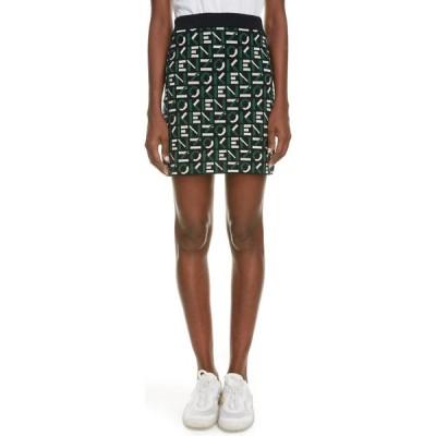 ケンゾー KENZO レディース ミニスカート スカート Sport Logo Jacquard Sweater Miniskirt Green