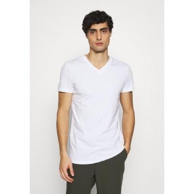 トムテイラーデニム Tシャツ メンズ トップス V NECK  - Basic T-shirt - white