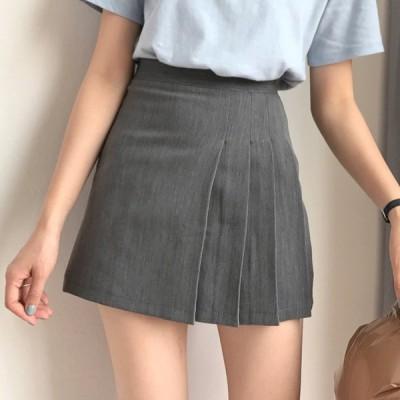 レディース台型Aライン学院     プリーツスカート 通勤スカート  ショート  カジュアル 夏作 可愛い ラッシュ おしゃれ