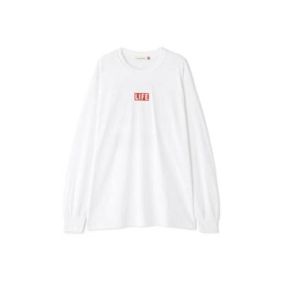 ROSE BUD/ローズ バッド LIFEフォトプリントロンT ホワイト M
