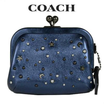 コーチ COACH レディース 財布 コインケース 小銭入れ 75947 V5P1H(メタリックダークブルー)