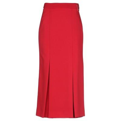 プラダ PRADA 7分丈スカート レッド 38 ポリエステル 100% 7分丈スカート