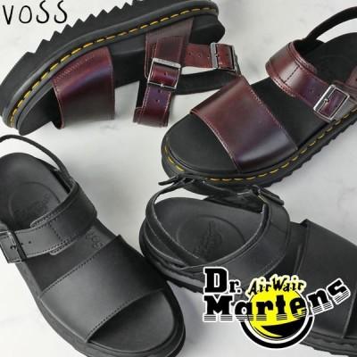 ドクターマーチン Dr.Martens VOSS サンダル レディース 23802001 23804211 厚底 コンフォートサンダル レザーサンダル ブラック チャロ