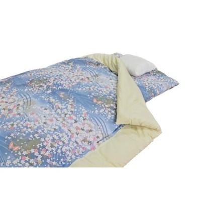 【日本製】【掛布団】上質綿100%使用 和綴じ掛け布団 ブルー