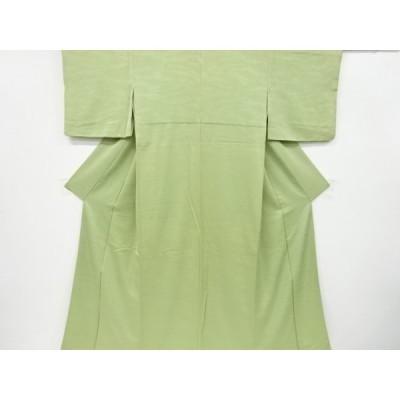 宗sou 流水模様織り出し一つ紋色無地着物【リサイクル】【着】