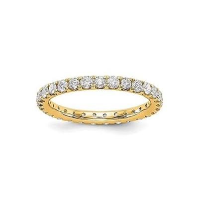 特別価格Jewelry-14k Polished U Shared Prong 1ct Diamond Eternity Band Size-7.5好評販売中