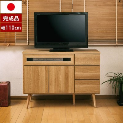 テレビボード 幅110cm 北欧ヴィンテージ SolidNeo リビングキャビネット 日本製 完成品 オーク NK04-025NA-NS
