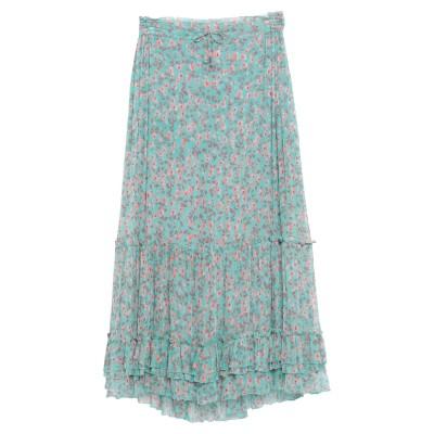 POUPETTE ST BARTH ロングスカート ターコイズブルー S シルク 100% ロングスカート