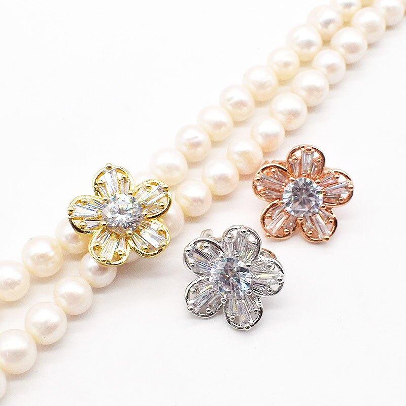 珠寶飾品配件固定扣 珍珠項鏈扣防止多層毛衣鏈滑動扣也可DIY夾扣