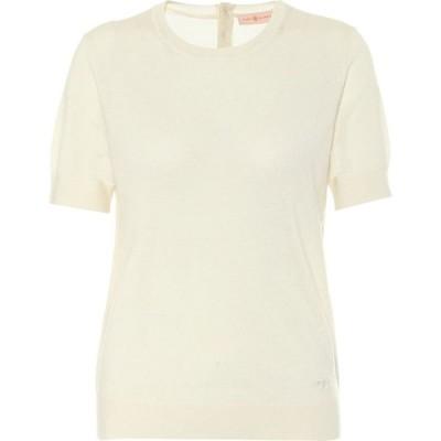 トリー バーチ Tory Burch レディース ニット・セーター トップス Iberia cashmere sweater New Ivory
