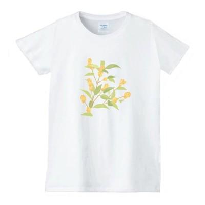 花 フラワー Tシャツ 白 レディース 女性用 jfw79