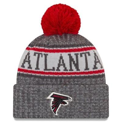 """ニューエラ メンズ ニット帽 """"Atlanta Falcons"""" New Era NFL Sideline Cold Weather Graphite Sport Knit Hat 帽子 Graphite"""