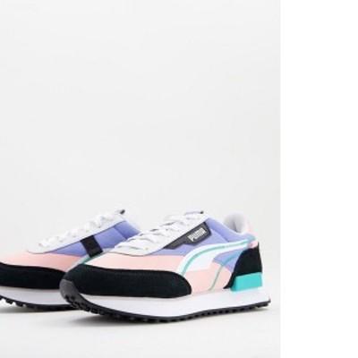 プーマ レディース スニーカー シューズ Puma Future Rider sneakers in lilac and pink Pink/purple