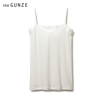 GUNZE グンゼ the GUNZE 【FOR SUMMER】汗取り付キャミソール(レディース) ブラック M