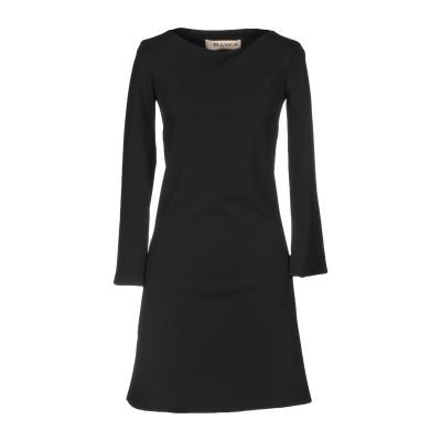 BLANCA ミニワンピース&ドレス ブラック 46 ポリエステル 95% / ポリウレタン 5% ミニワンピース&ドレス