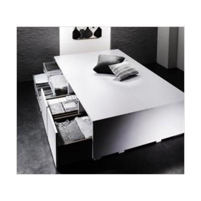 収納ベッド/ベッドフレームのみ/引き出し2杯/シングル 衣装ケースも入る大容量デザイン SCHNEE シュネー