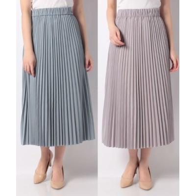 en recre / リバーシブルカラープリ-ツスカ-ト WOMEN スカート > スカート