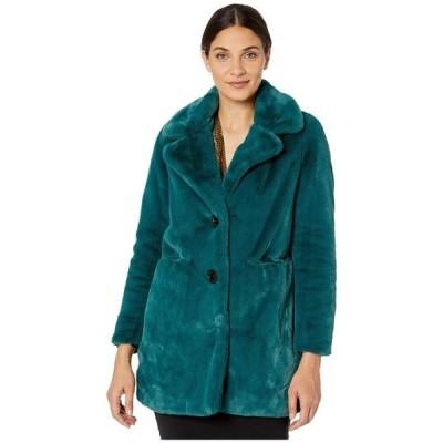 サムエデルマン レディース コート アウター Faux Fur Notch Collar Coat