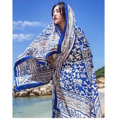 ビーチストール ラウンドビーチタオル 砂浜スカーフ