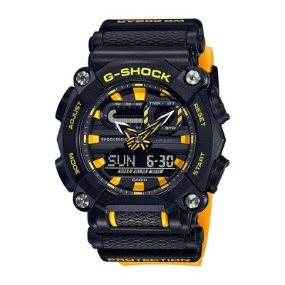 国内正規品 CASIO G-SHOCK カシオ Gショック 10角 ブラック×イエロー CMFデザイン メンズ腕時計 GA-900A-1A9JF