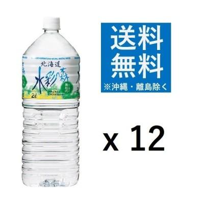 黒松内銘水 水彩の森 2L ペットボトル 1セット(12本:6本×2ケース) ミネラル ウォーター