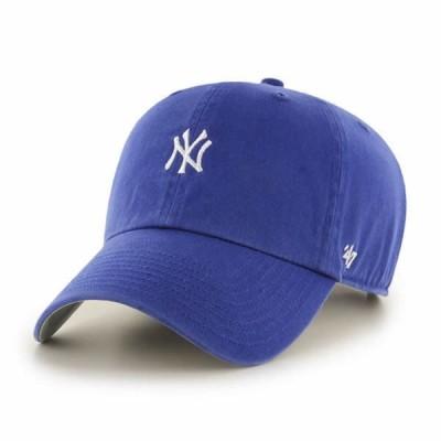 '47 Bland(フォーティセブン)ベースボールキャップ 帽子 キャップ ダッドハット ワンポイント Yankees Base Runner '47 CLEAN UP Royal Blue MLB ヤンキース