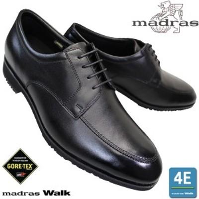 マドラスウォーク MW8001 黒 メンズ ビジネスシューズ 紐靴 革靴 黒靴 本革 4E 幅広 ワイド 防水 ゴアテックス madras walk