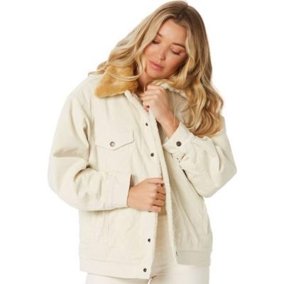 リーバイス Levi's レディース ジャケット アウター oversized cord fur trucker jacket Ecru wide wale