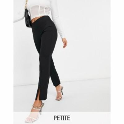 ヴェロモーダ Vero Moda Petite レディース ボトムス・パンツ Zip Front Trousers In Black ブラック