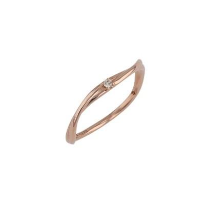 指輪 リング レディース 18金 ダイヤモンド K18 ピンクゴールド 18k ESTELLE エステール ギフト プレゼント 普段使い