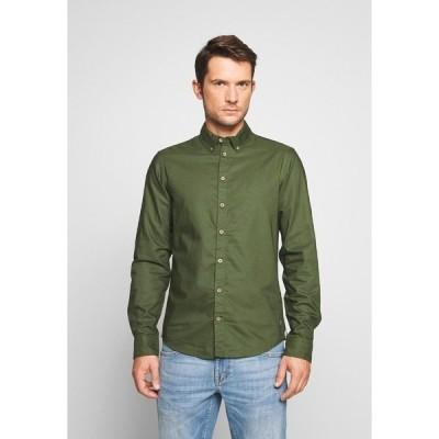 ブレンド シャツ メンズ トップス Shirt - forest green