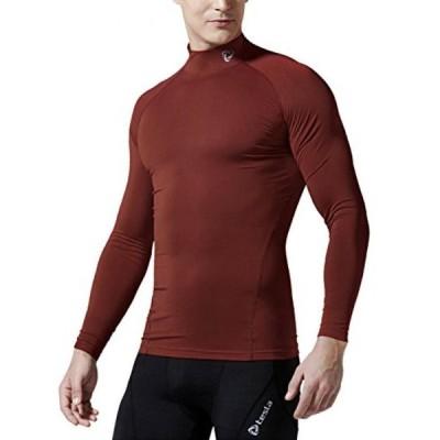 キッズ用サッカーグッズ スポーツ遊具  Tesla Men's Mock Long-Sleeved T-Shirt Cool Dry Compression Baselayer T11 / T12 / MUT12 / MUT72 正規輸入品