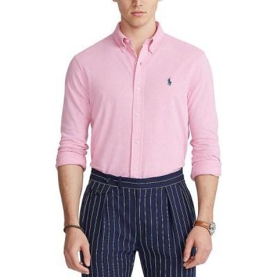 ラルフローレン メンズ シャツ トップス Featherweight Mesh Long-Sleeve Woven Shirt Hampton Pink Heather