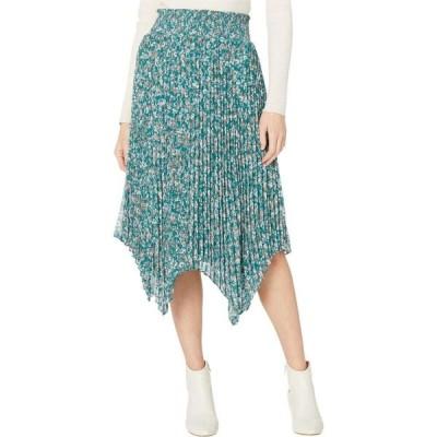 ワンステート 1.STATE レディース ひざ丈スカート スカート Woodland Floral Handkerchief Hem Midi Skirt Veridian Emerald Multi