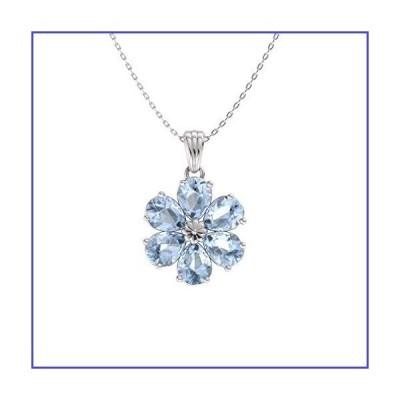 Diamond Diamond Diamond Natural Certified ペアカット ジェムストーン フラワーネックレス 14Kホワイトゴールド 0.90