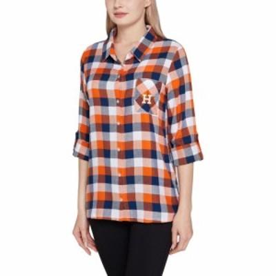 コンセプト スポーツ Concepts Sport レディース 長袖Tシャツ トップス Houston Astros Navy Long Sleeve Button-Up Night T-Shirt