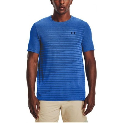 アンダーアーマー Under Armour メンズ Tシャツ トップス Seamless Fade T-Shirt Blue Circuit