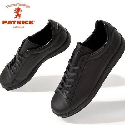 パトリック スニーカー メンズ QUEBEC-WP ケベック ウォータープルーフ 防水 黒 ブラック 503131 革 日本製 シューズ 靴 2021春新作