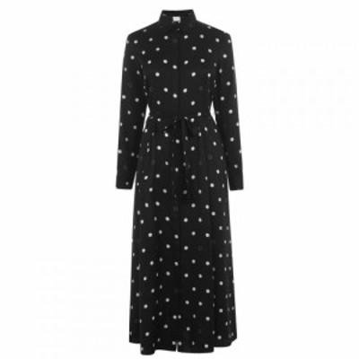 ヒューゴ ボス BOSS レディース ワンピース シャツワンピース ワンピース・ドレス Belted Polka-Dot Shirt Dress Black Polkadot