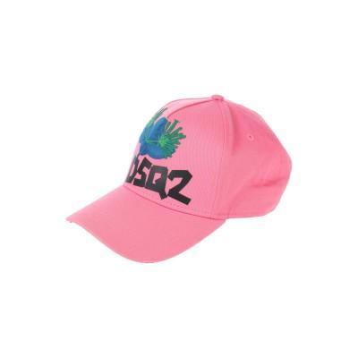 ディースクエアード DSQUARED2 帽子 ピンク one size コットン 100% 帽子