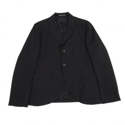 ヨウジヤマモト プールオムYohji Yamamoto POUR HOMME ウールギャバカーブ切替ジャケット 黒2 【メンズ】