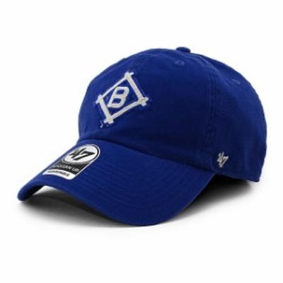 47 Brand bcptn-mclen12gws-ry12 ブルックリン ドジャース CLEAN UP CAP キャップ BLUE ブルー 青 レディース ヘッドウェア